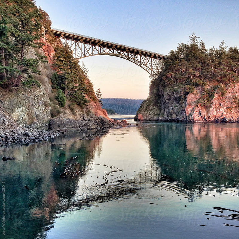 Deception Pass Bridge by Jesse Weinberg for Stocksy United