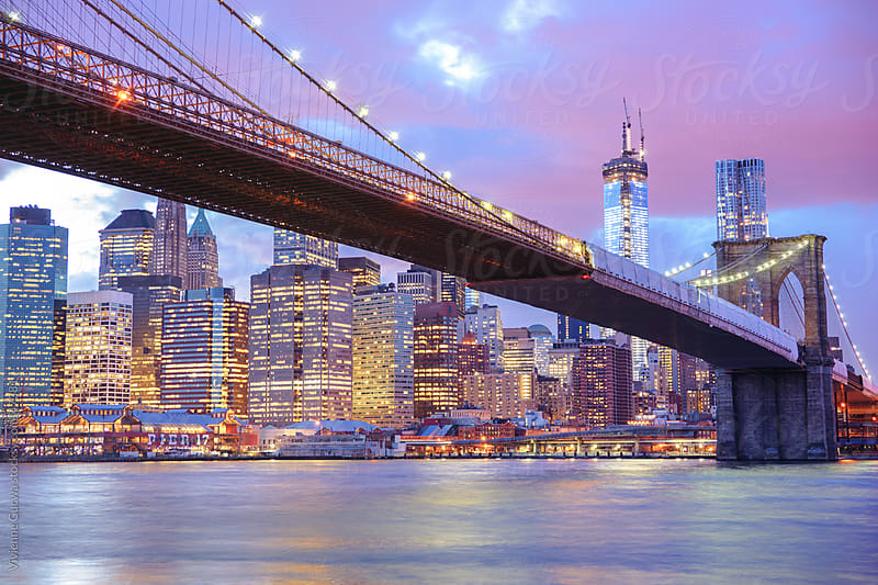 Brooklyn Bridge and New York City Skyline by Vivienne Gucwa for Stocksy United
