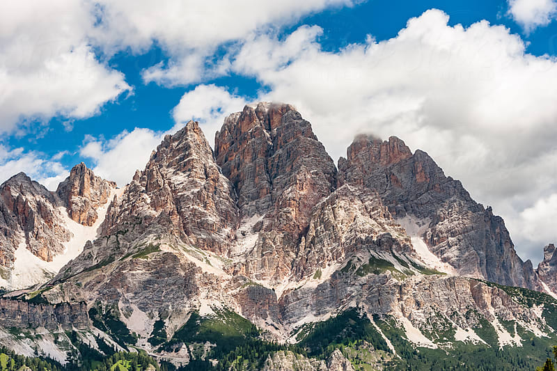 Italian Dolomites, Rocky Mountains during Summer by Giorgio Magini for Stocksy United