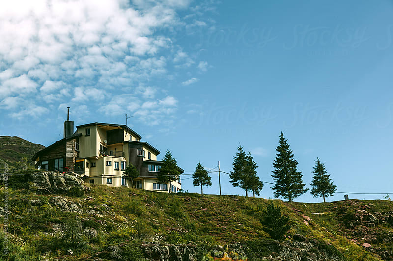 Mountain Cottage on a Hill by VICTOR TORRES for Stocksy United