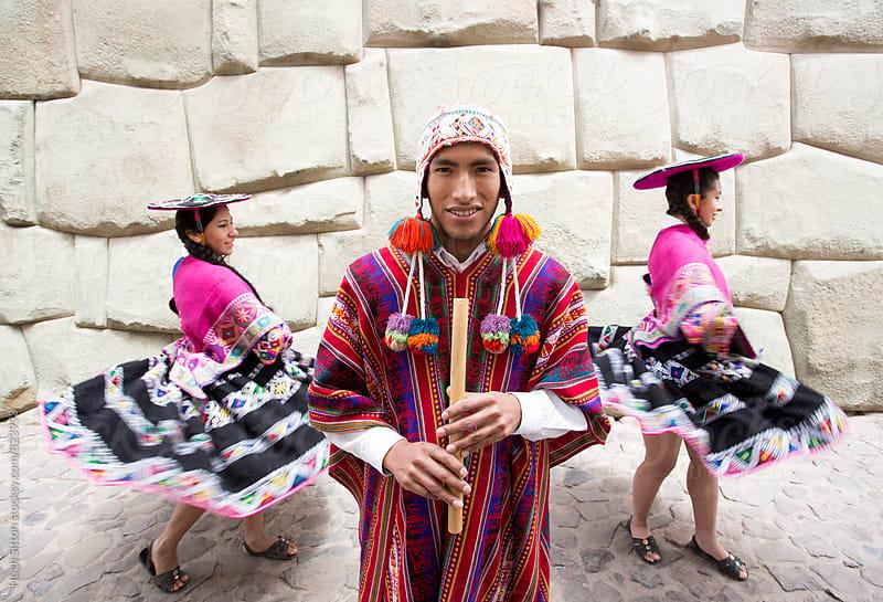 Traditional Peruvian Dancers. Peru by Hugh Sitton for Stocksy United
