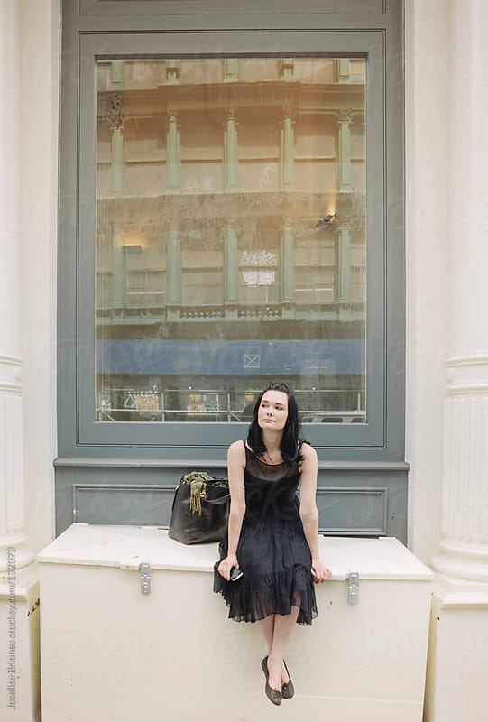 Woman Enjoying Sunny Leisure Day in Soho in New York by Joselito Briones for Stocksy United