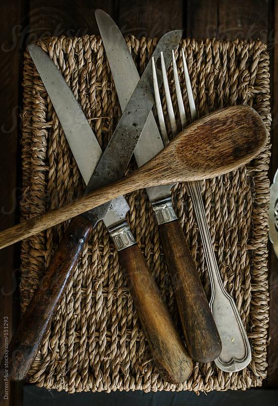 Vintage cutlery  by Darren Muir for Stocksy United
