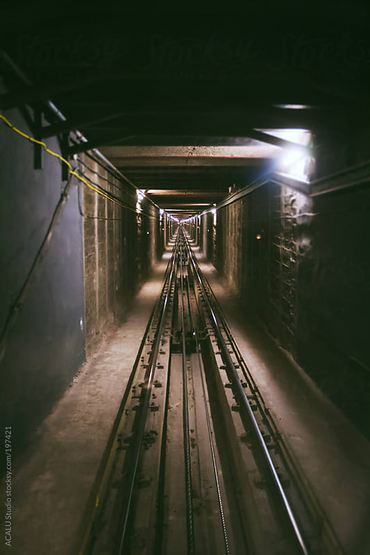 Funicular tracks by ACALU Studio for Stocksy United