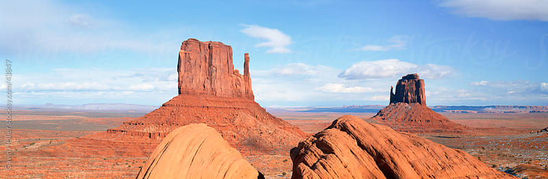 United States of America, Arizona, Monument Valley Navajo Tribal Park, 'The Mittens' by Gavin Hellier for Stocksy United