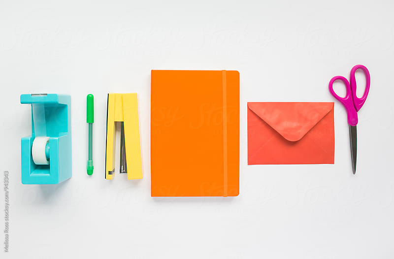 Office supply rainbow. by Melissa Ross for Stocksy United
