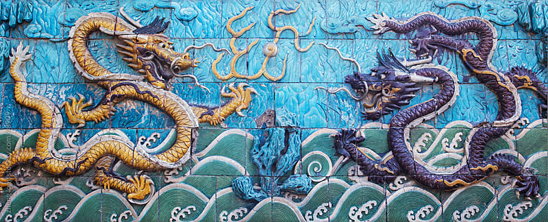 nine-dragon screen by zheng long for Stocksy United