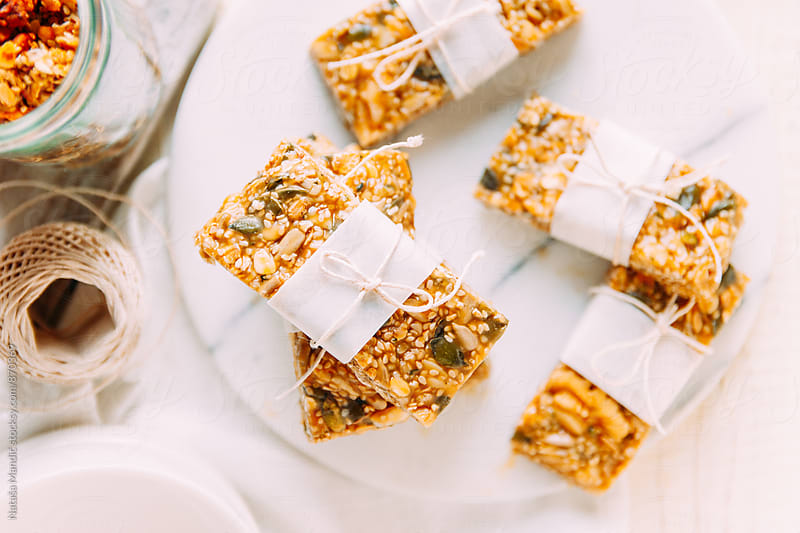 Homemade energy bars by Nataša Mandić for Stocksy United