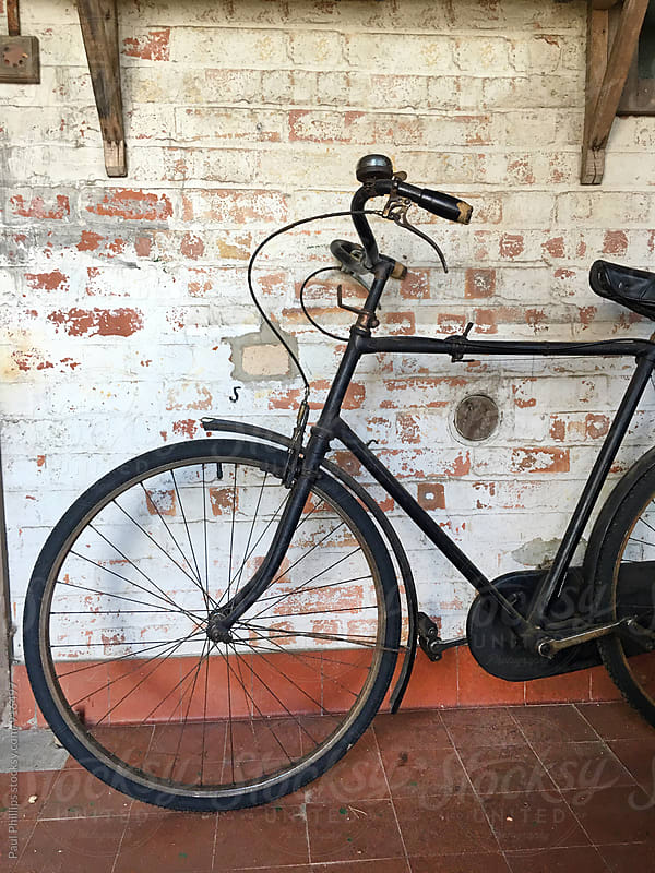 Vintage cycle inside an old shed by Paul Phillips for Stocksy United