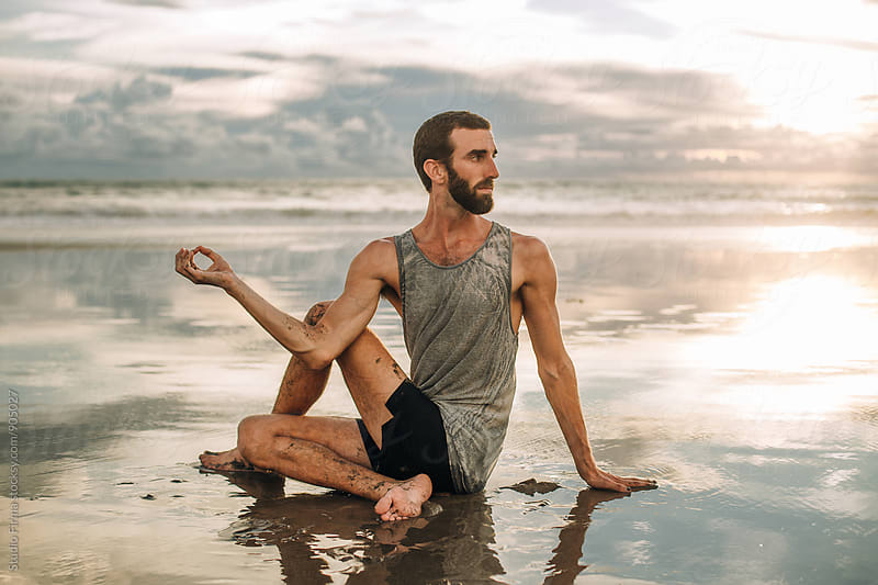 Yoga on the Beach by Studio Firma for Stocksy United