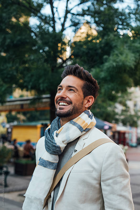Handsome Caucasian Man Smiling by Lumina for Stocksy United