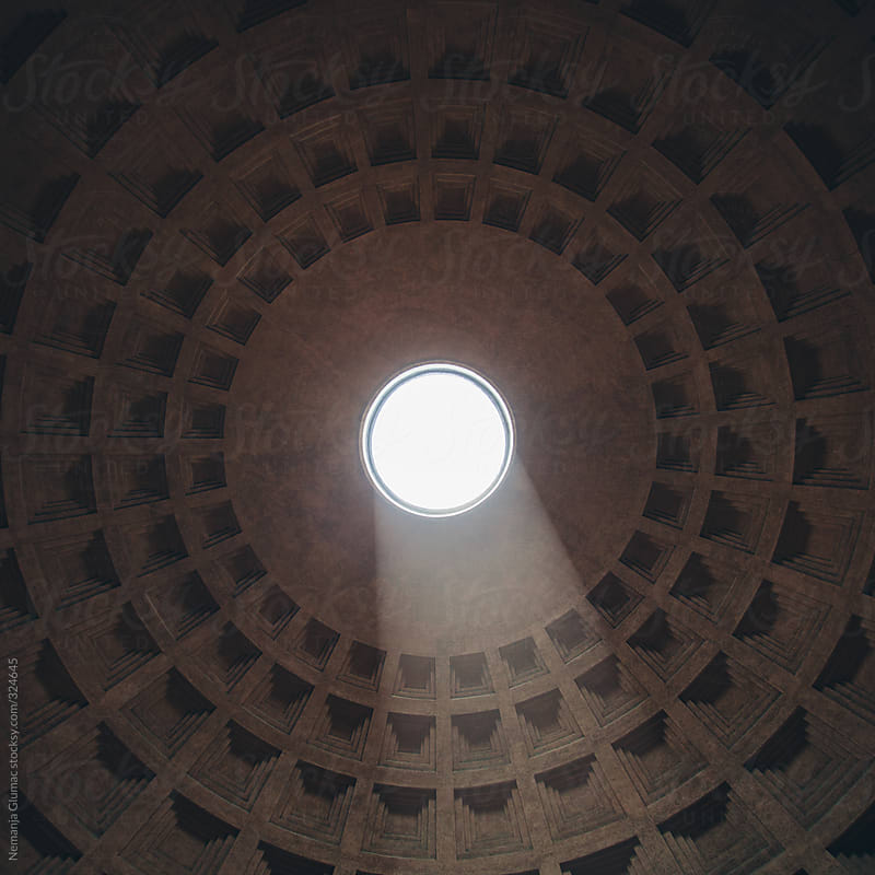 Pantheon Opening and Light Beam by Nemanja Glumac for Stocksy United