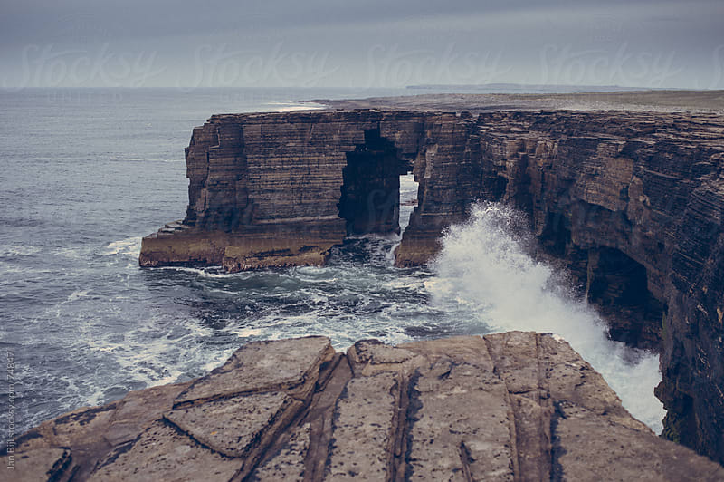 ocean cliffs on westray, Orkney islands by Jan Bijl for Stocksy United