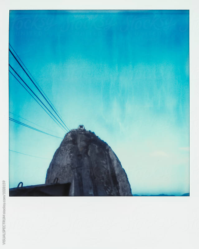 Polaroid of Sugarloaf in Rio de Janeiro, Brazil by Julien L. Balmer for Stocksy United