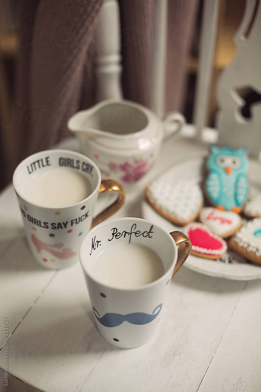 Milk and Cookies on Valentine's Day by Lumina for Stocksy United