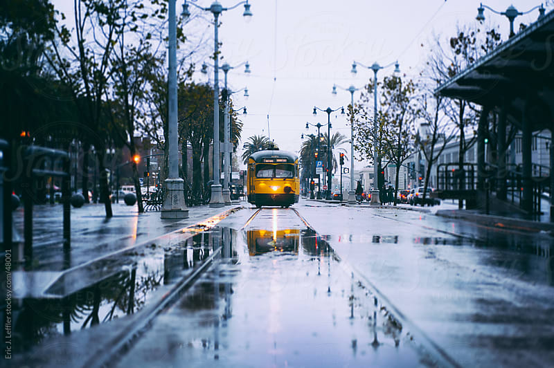 Rainy Day San Francisco by Eric J. Leffler for Stocksy United