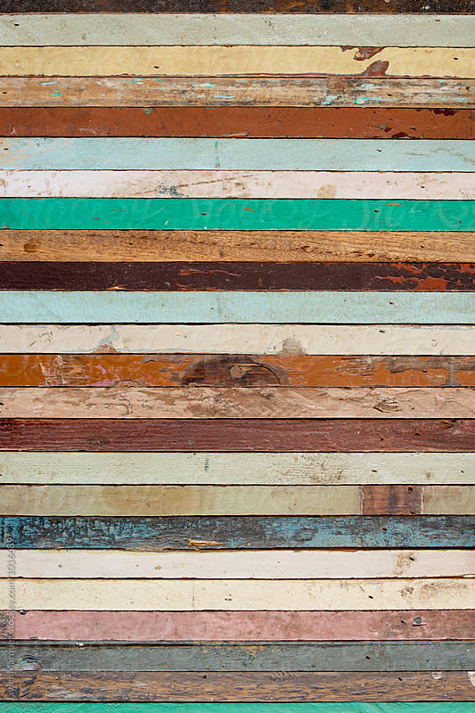 Vintage wood colors by Javier Márquez for Stocksy United