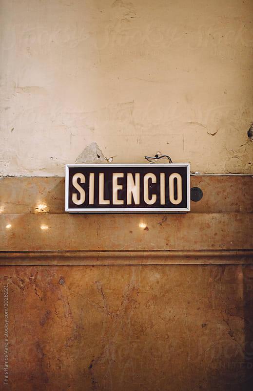 silence lettering by Thais Ramos Varela for Stocksy United