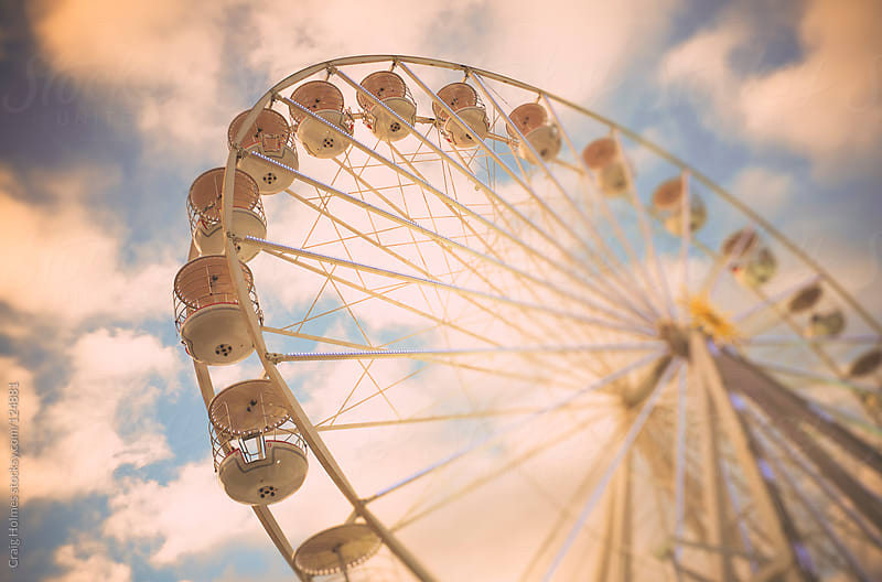 Vintage ferris wheel by Craig Holmes for Stocksy United
