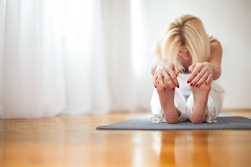 Woman Doing Yoga by Lumina for Stocksy United