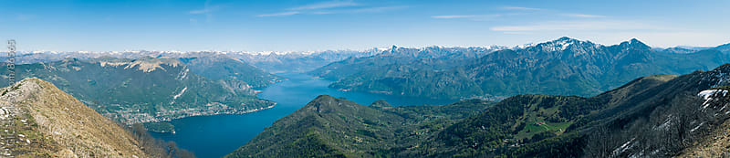 Lake Como aerial view. by GIC for Stocksy United
