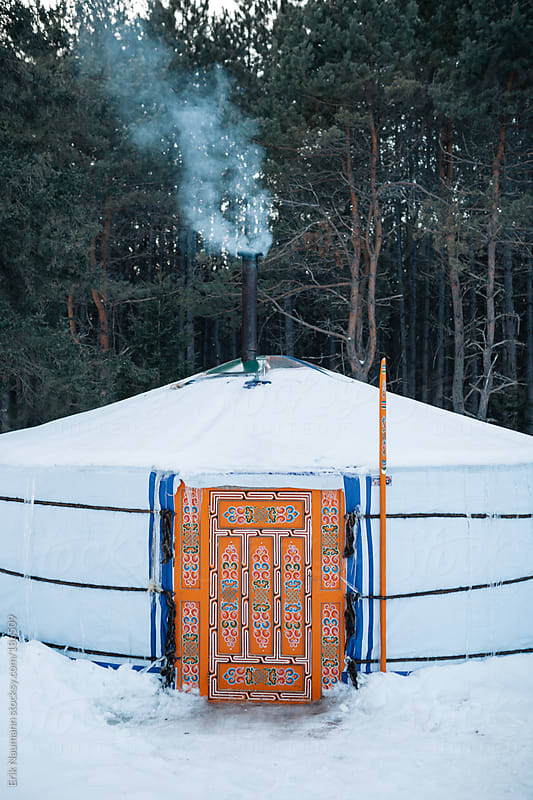 Winter Yurt by Erik Naumann for Stocksy United