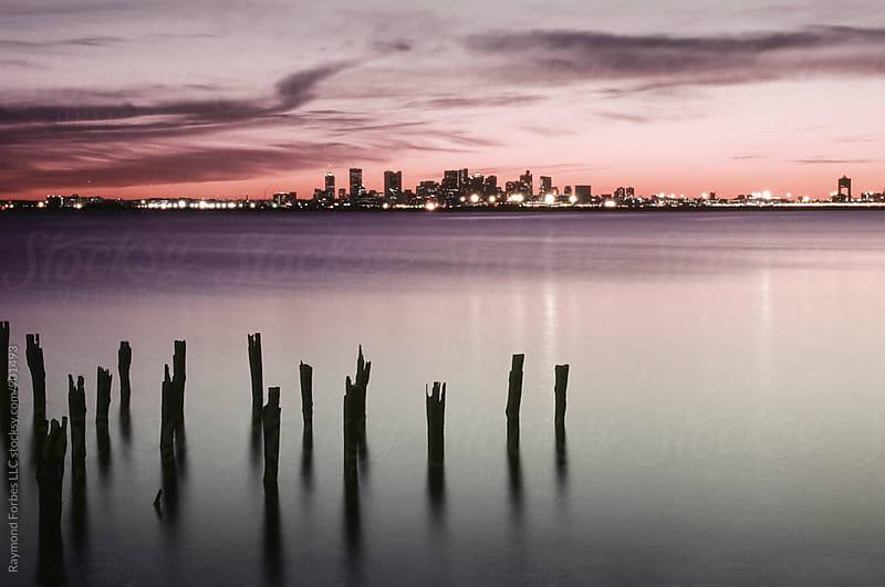 Sunset Boston Harbor by Raymond Forbes LLC for Stocksy United