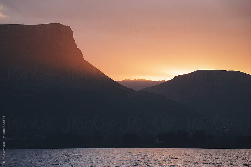 Mount Arbel at Sunset by B. Harvey for Stocksy United