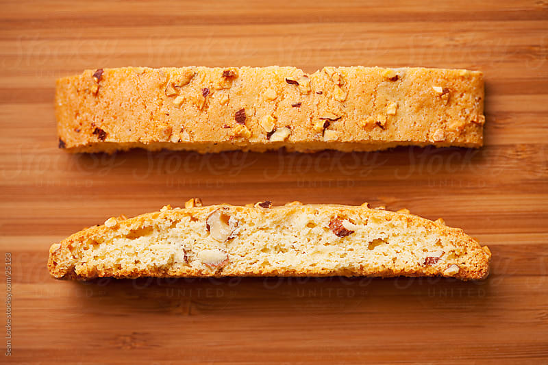 Biscotti: Overhead View of Crunchy Biscotti by Sean Locke for Stocksy United