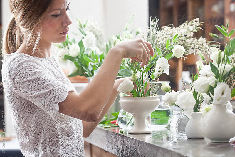 Florist at Work by Jill Chen for Stocksy United