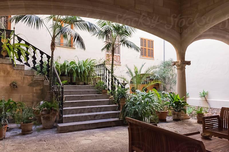 Mallorcan courtyard by Marilar Irastorza for Stocksy United