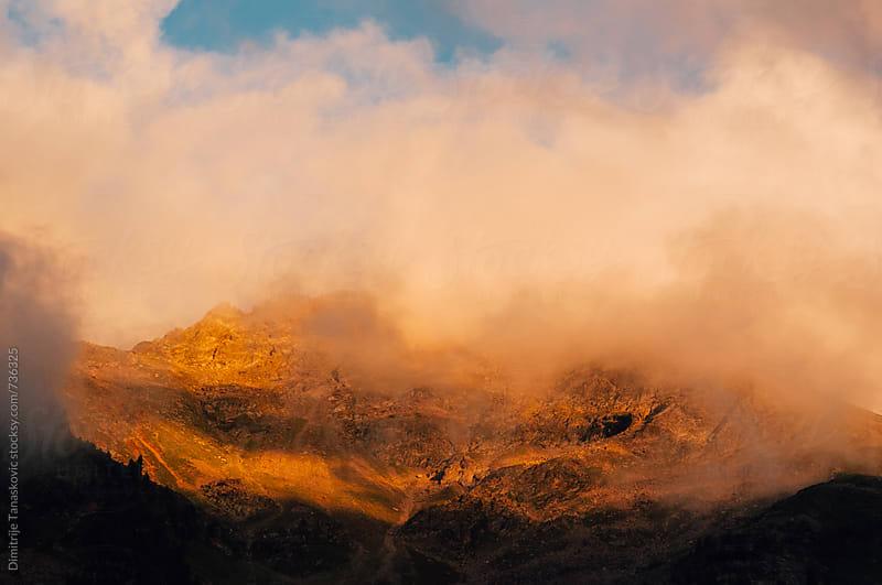 Mountain in the fog by Dimitrije Tanaskovic for Stocksy United