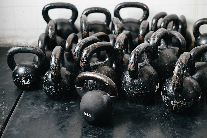 Kettlebells at the Gym by Branislav Jovanović for Stocksy United