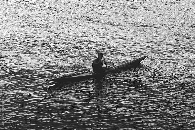 Kayaking on the Sound by Jovell Rennie for Stocksy United