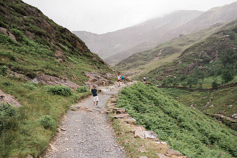 Path in the mountains in Wales by Léa Jones for Stocksy United
