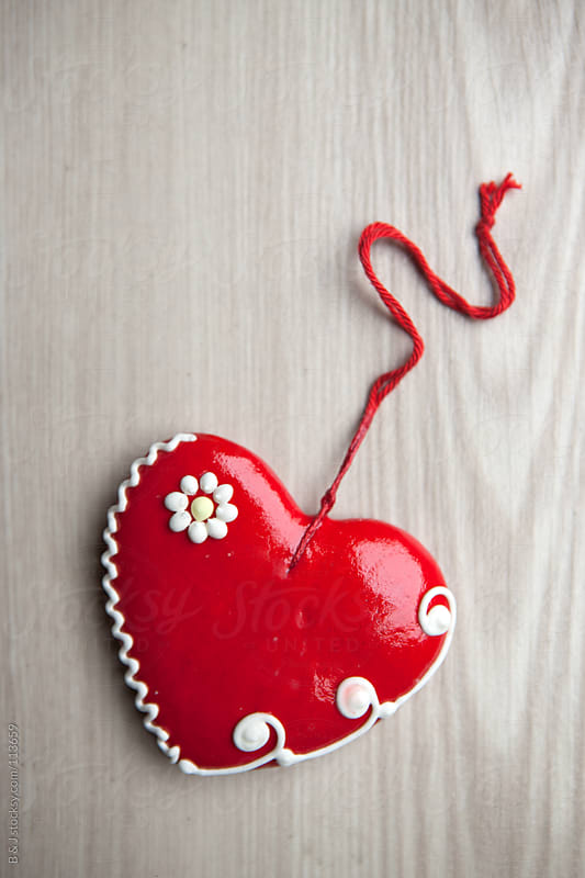 Valentine/Christmas heart cookie by B & J for Stocksy United