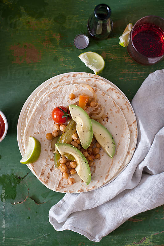 Chickpea fajita by Veronika Studer for Stocksy United