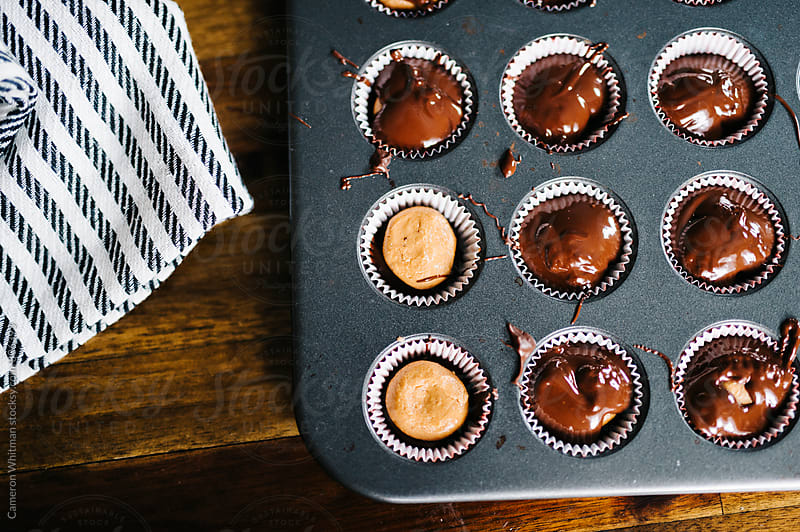 Almond Butter Chocolate Cups by Cameron Whitman for Stocksy United