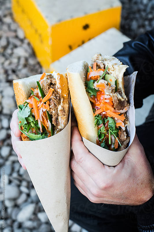 Banh mi sandwich by KEMA Food Culture for Stocksy United