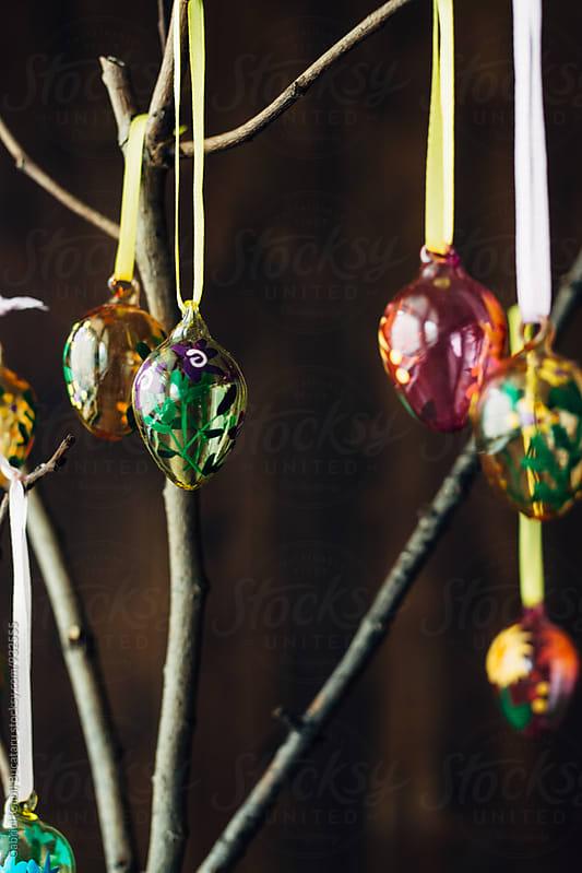 Multicolor decorative Easter eggs by Gabriel (Gabi) Bucataru for Stocksy United
