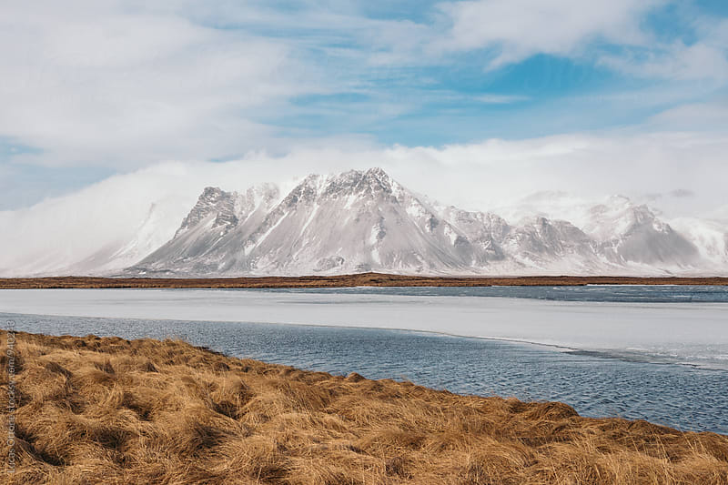 Landscape: Snowy mountain in Iceland by Lucas Ottone for Stocksy United