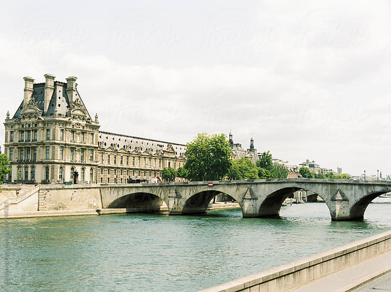 Bridge and building over the Seine, Paris by Kirstin Mckee for Stocksy United