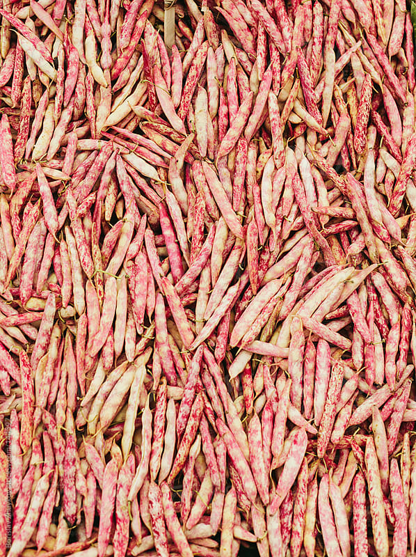Fresh pinto beans ( string bean ) in the market by Borislav Zhuykov for Stocksy United