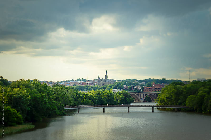Georgetown From Over The Potomac River by Cameron Whitman for Stocksy United