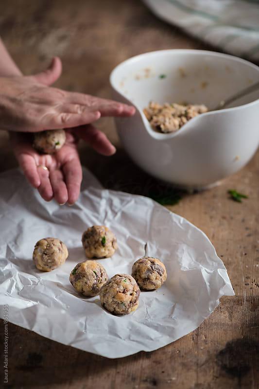 Preparing canederli - Knodel by Laura Adani for Stocksy United