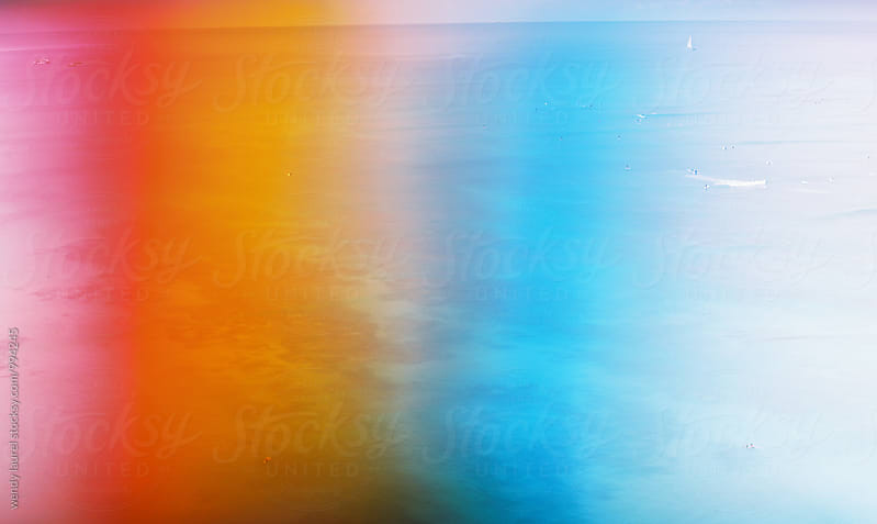 rainbow filter ocean scape of waikiki beach by wendy laurel for Stocksy United