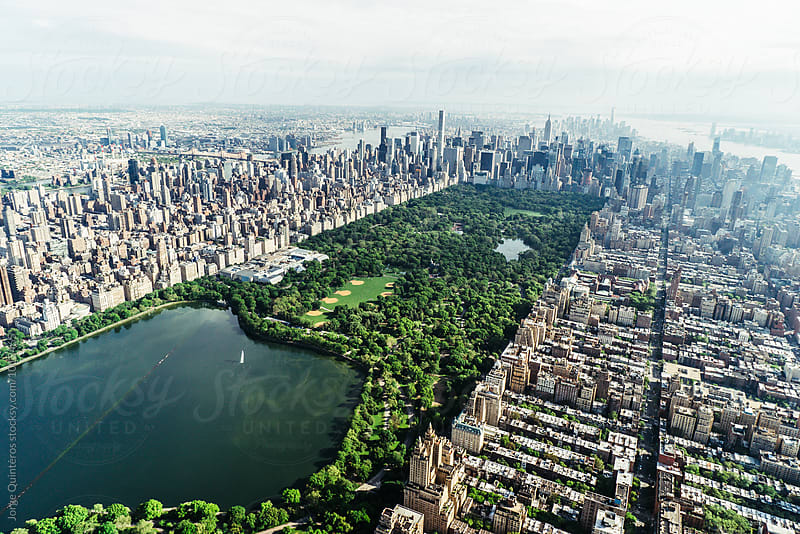 Central Park from the Sky by Jorge Quinteros for Stocksy United