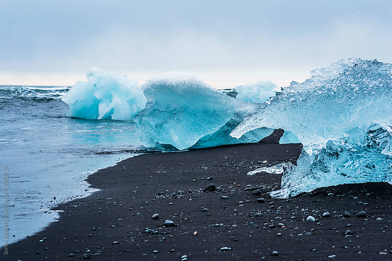 Glacier lagoon in Iceland by Soren Egeberg for Stocksy United