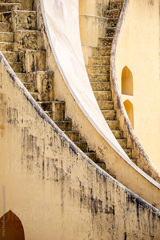 Interesting winding and steep stairways. by Mike Marlowe for Stocksy United
