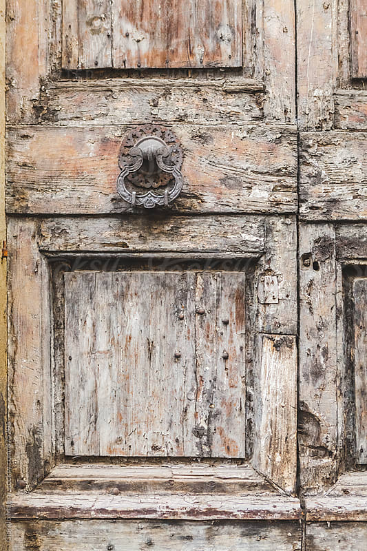Detail of an Old Wooden Door in Italy by Giorgio Magini for Stocksy United